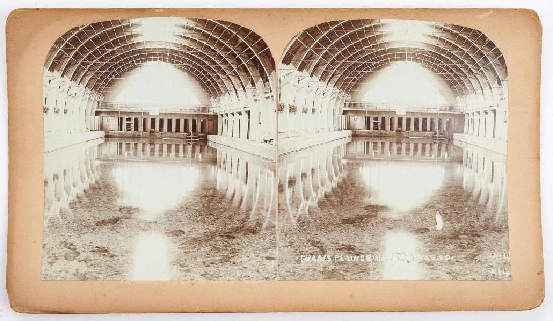 9 Stereoview Cards of Hot Springs, SD - 2