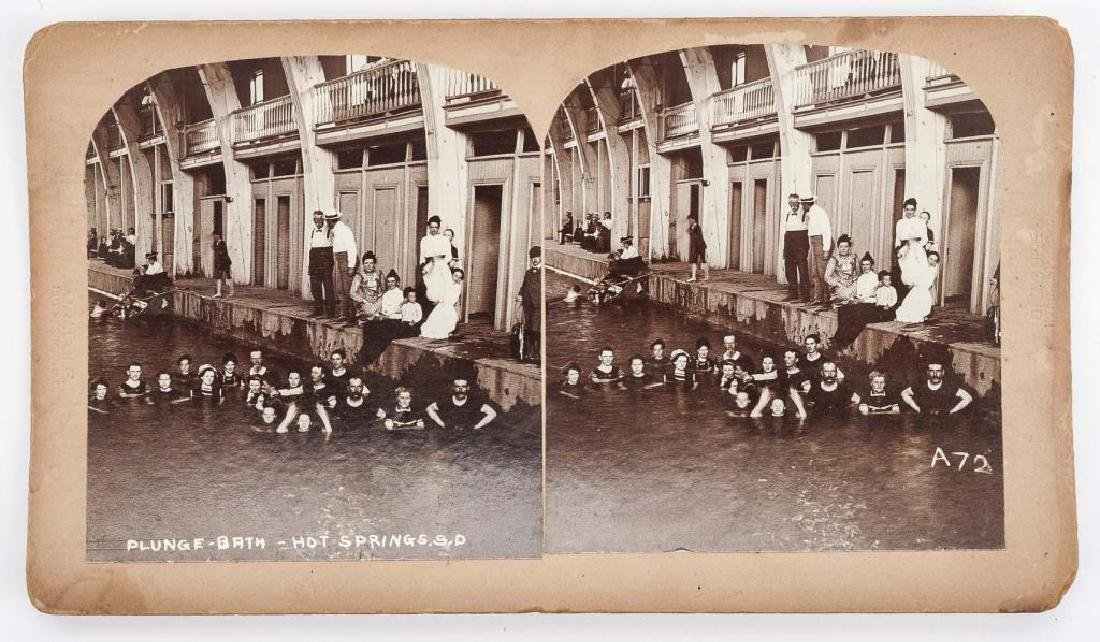 9 Stereoview Cards of Hot Springs, SD - 3