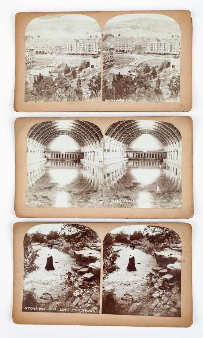 9 Stereoview Cards of Hot Springs, SD - 4