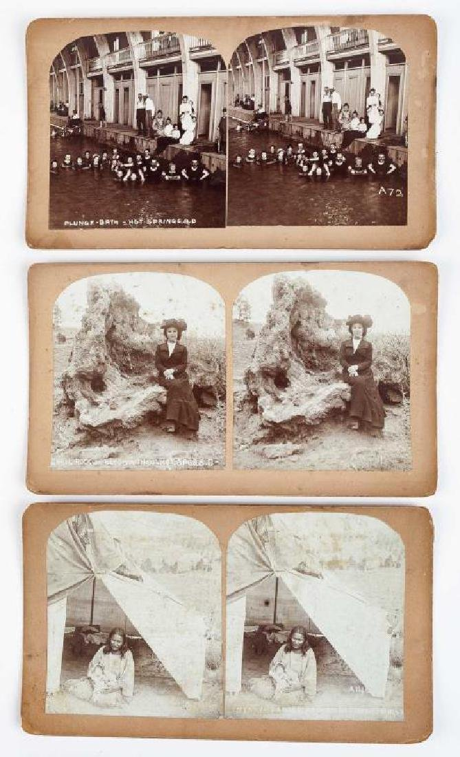 9 Stereoview Cards of Hot Springs, SD - 5