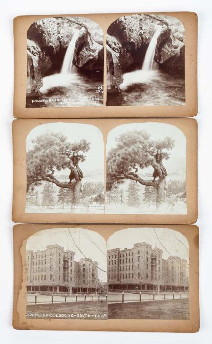 9 Stereoview Cards of Hot Springs, SD - 6