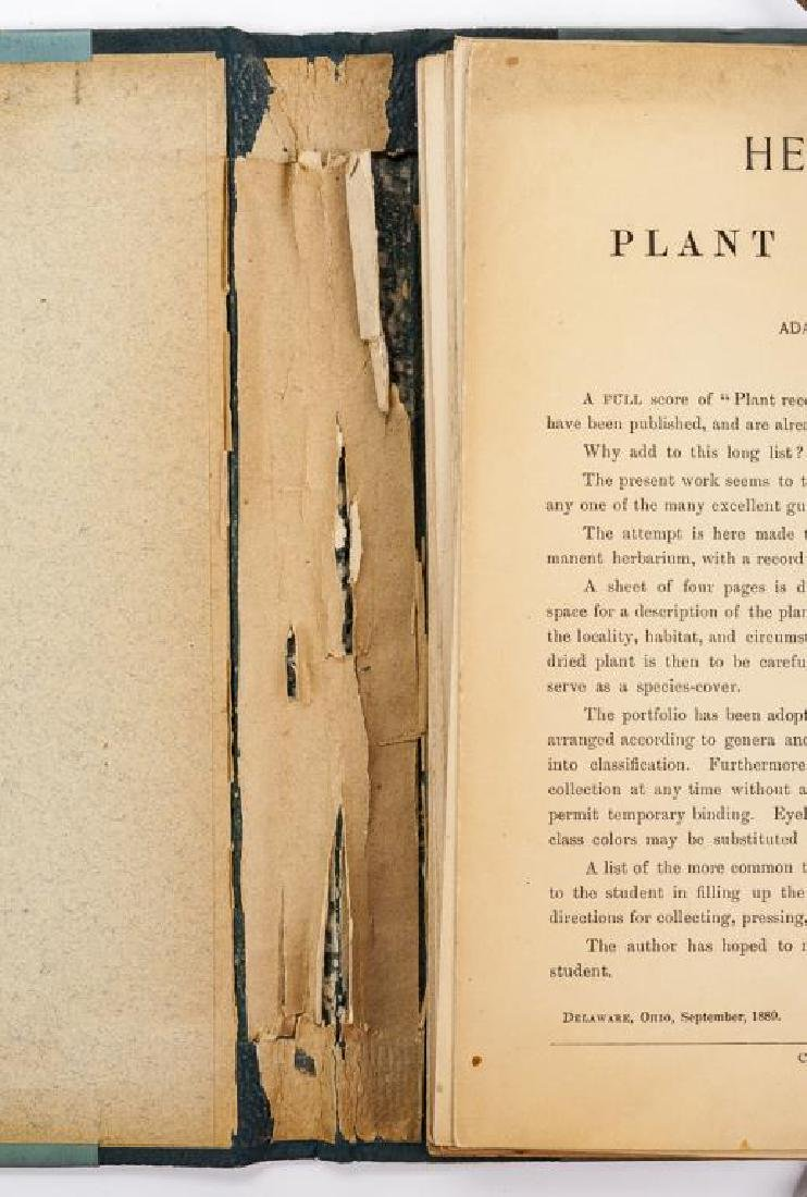 Herbarium & Plant Descriptions C. 1888 - 2