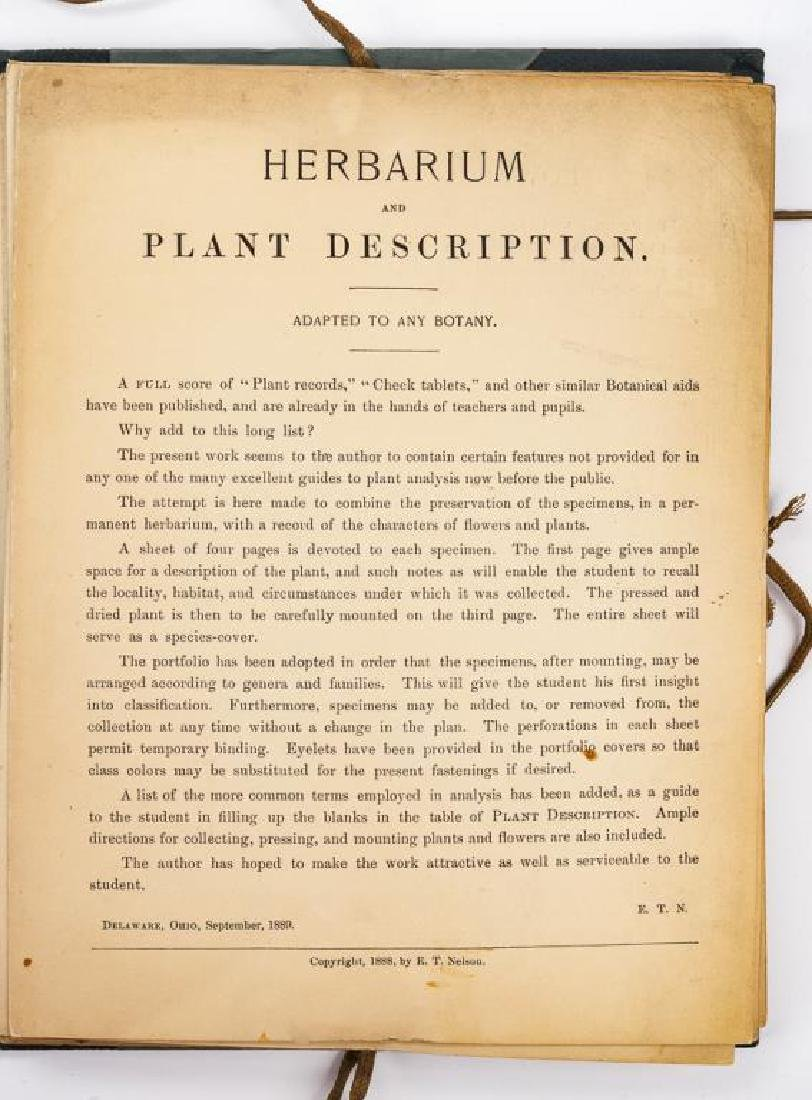 Herbarium & Plant Descriptions C. 1888 - 3