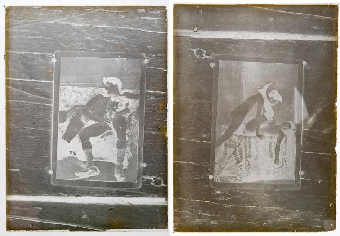 2 Early Erotoic Silver Glass Gelatin Negatives