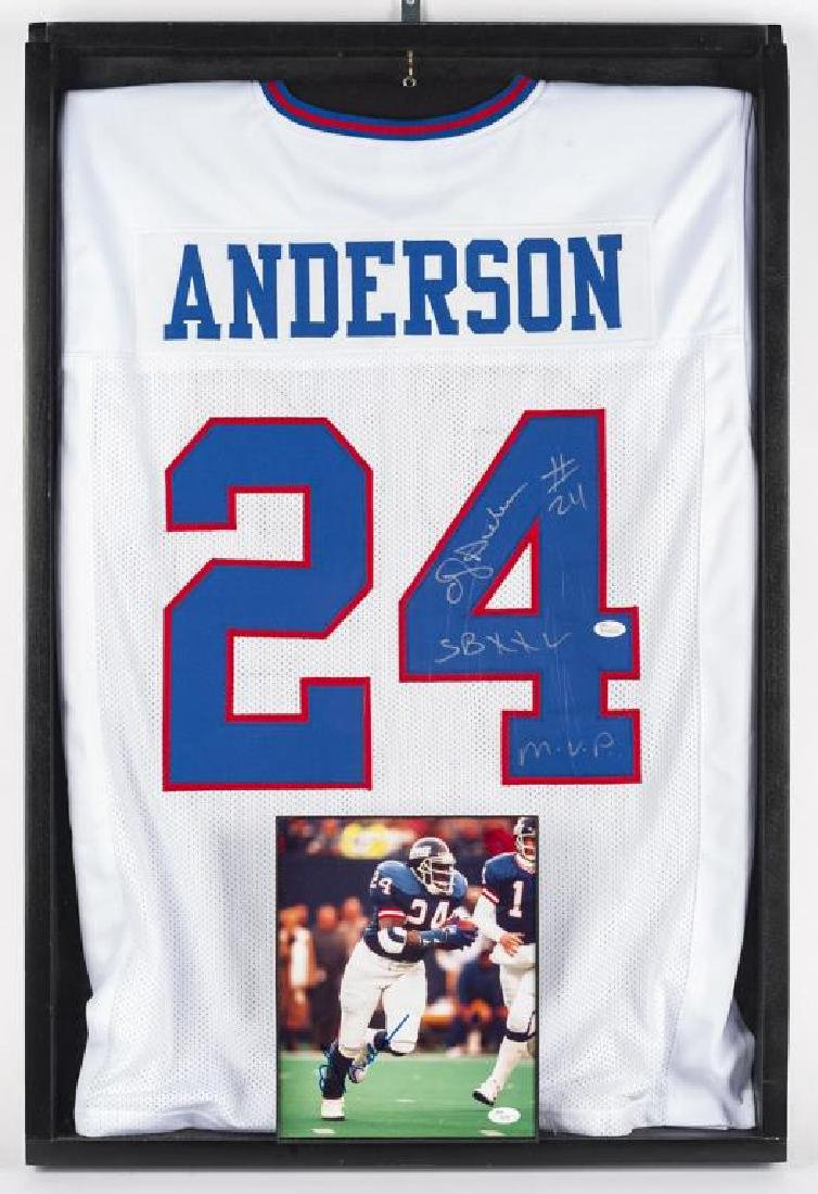 Autographed Ottis Anderson Football jersey