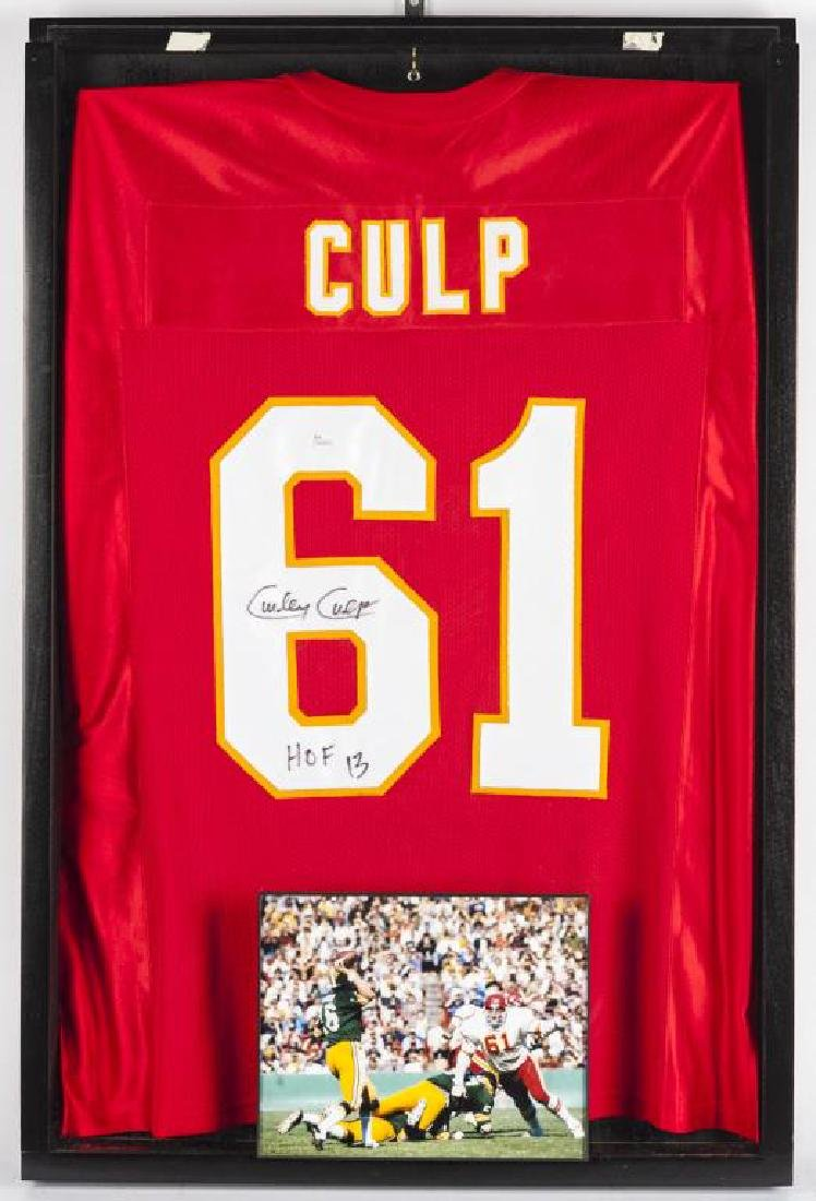 Autographed Curley Culp Football jersey