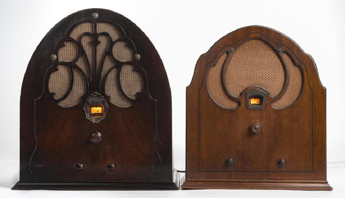 2 1930s Philco Cathedral Radios