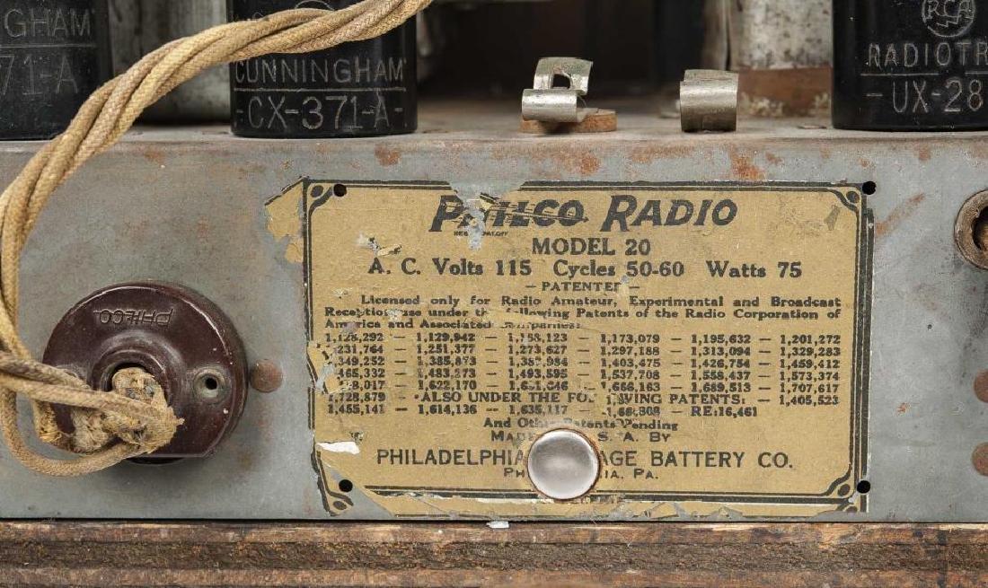2 1930s Philco Cathedral Radios - 7