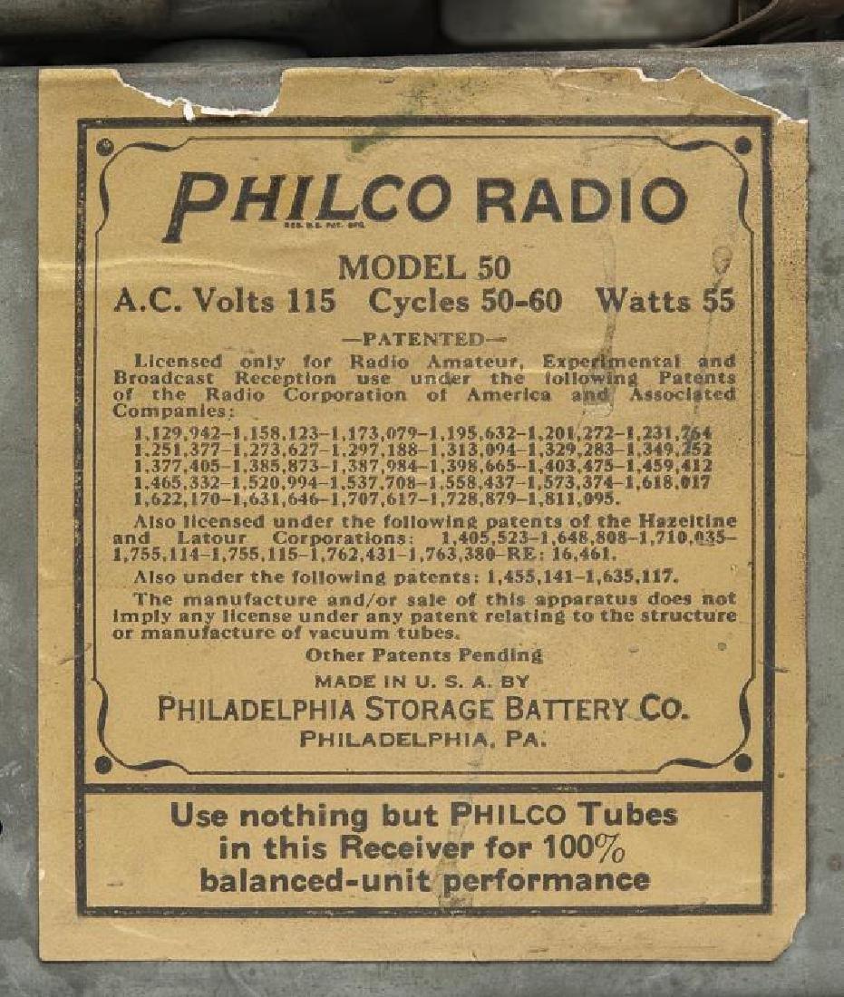 2 1930s Philco Cathedral Radios - 8