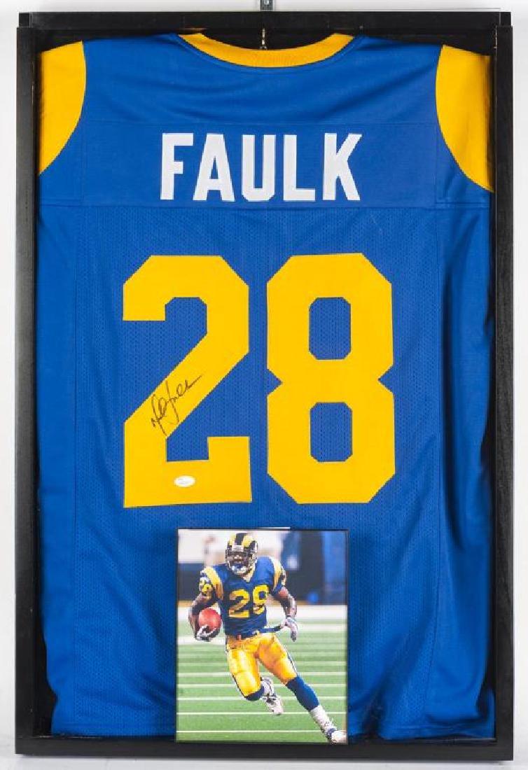 Autographed Marshall Faulk Football jersey