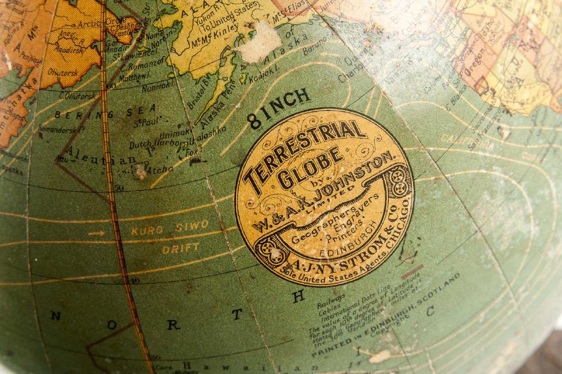A.J. Nystrom & Co. 8 Inch Terrestrial Globe - 2