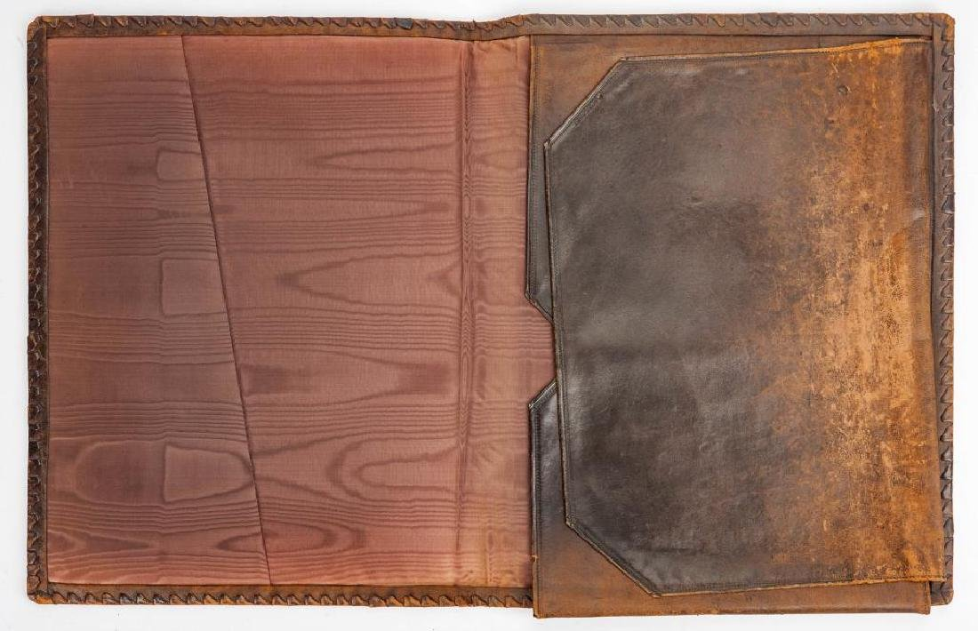 Hand Tooled Italian Leather Portfolio - 4
