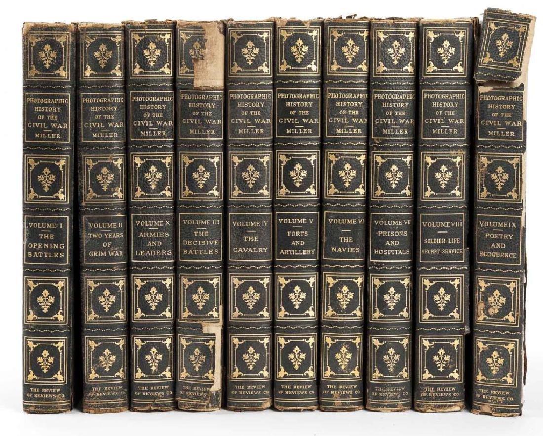 10 Vols Photographic History of Civil War, Miller