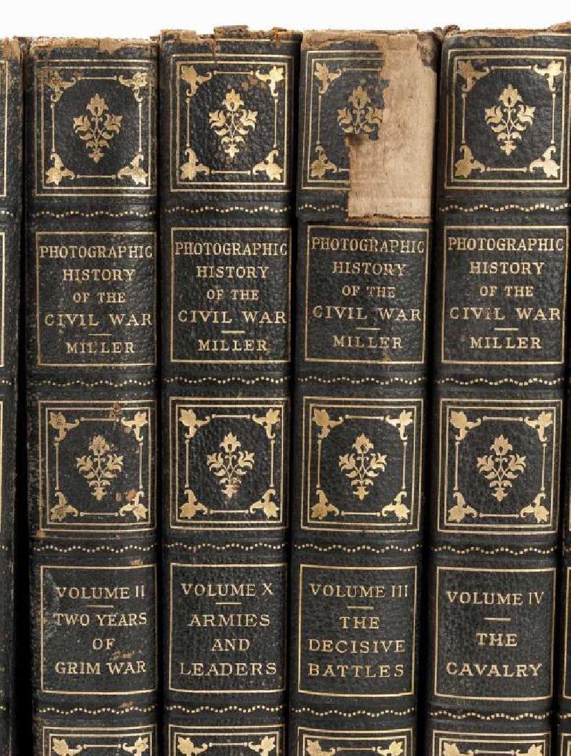 10 Vols Photographic History of Civil War, Miller - 3
