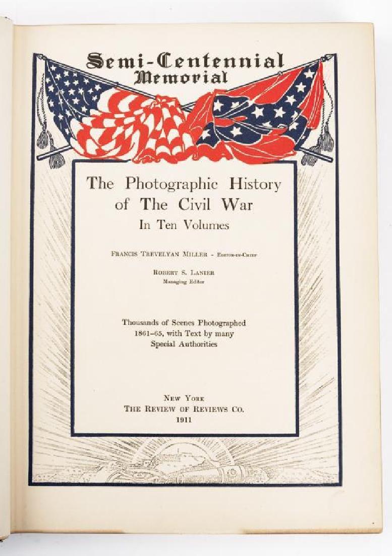 10 Vols Photographic History of Civil War, Miller - 5