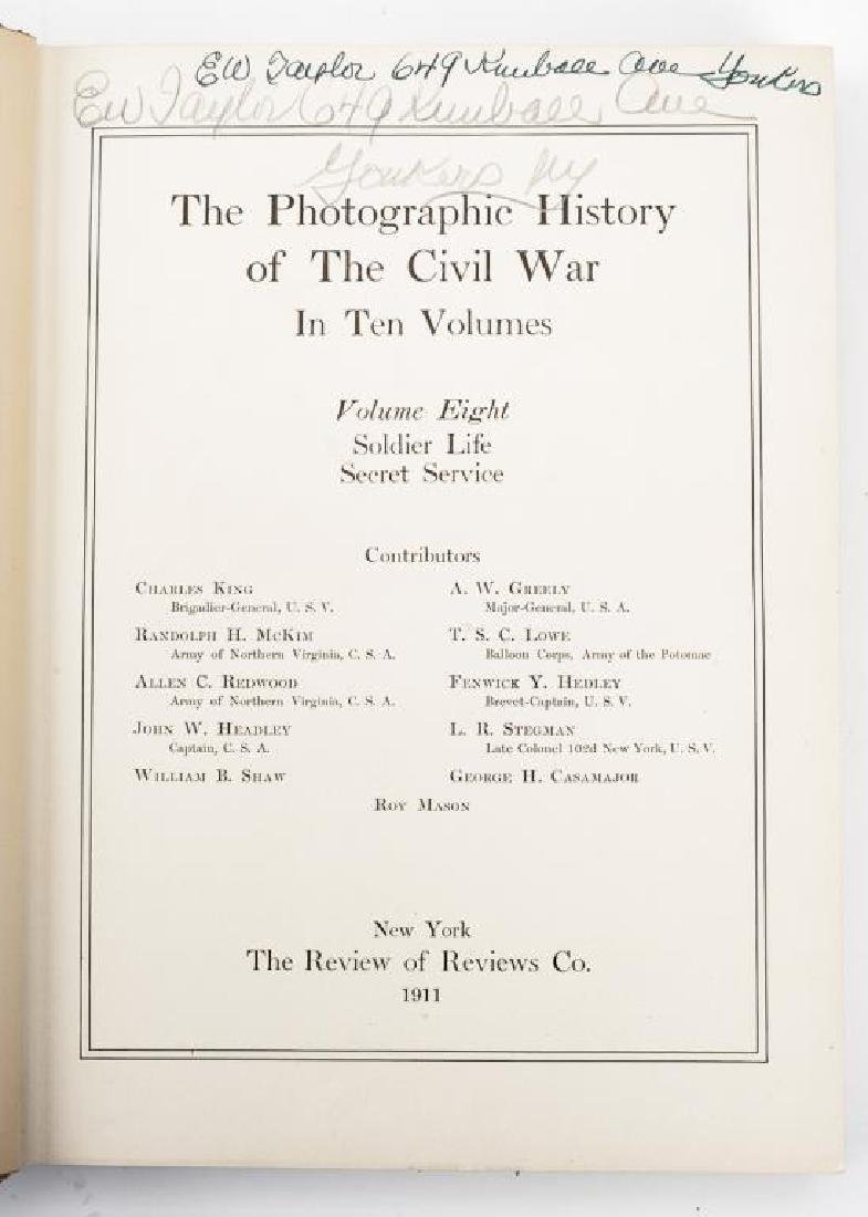 10 Vols Photographic History of Civil War, Miller - 6