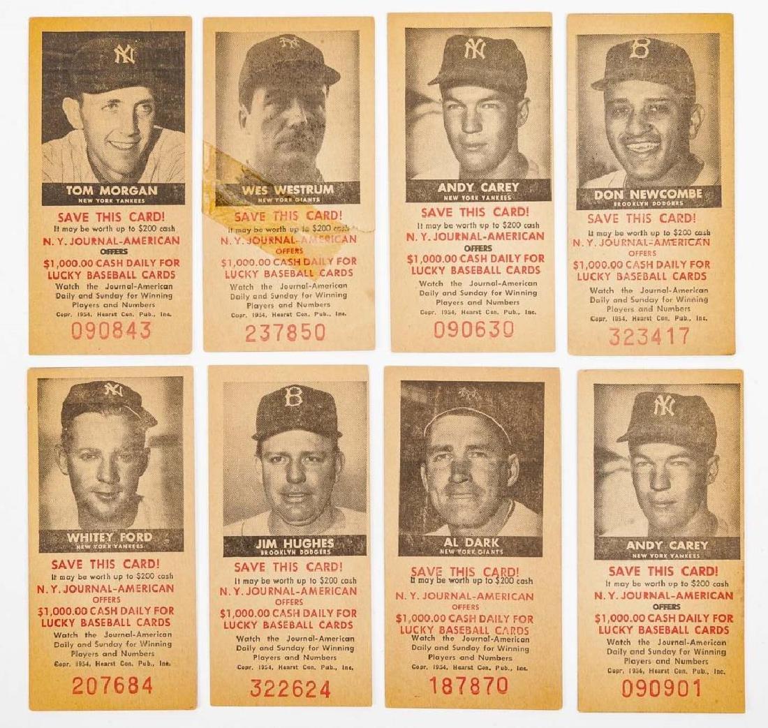 8 American Journal Baseball Cards