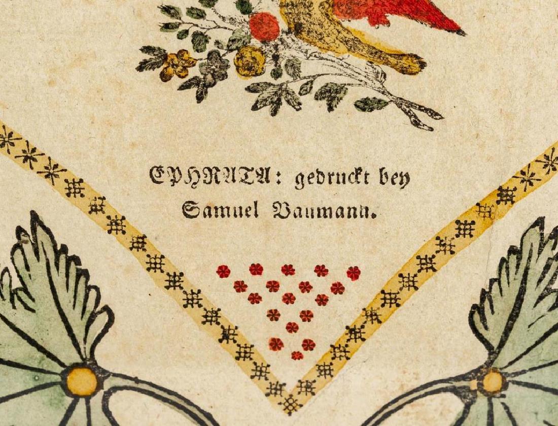 Saumuel Baumann Ephrata Taufschein - 4