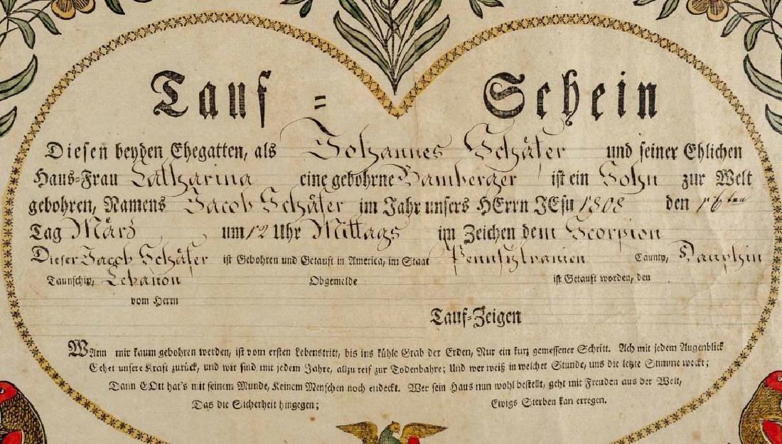 Saumuel Baumann Ephrata Taufschein - 5