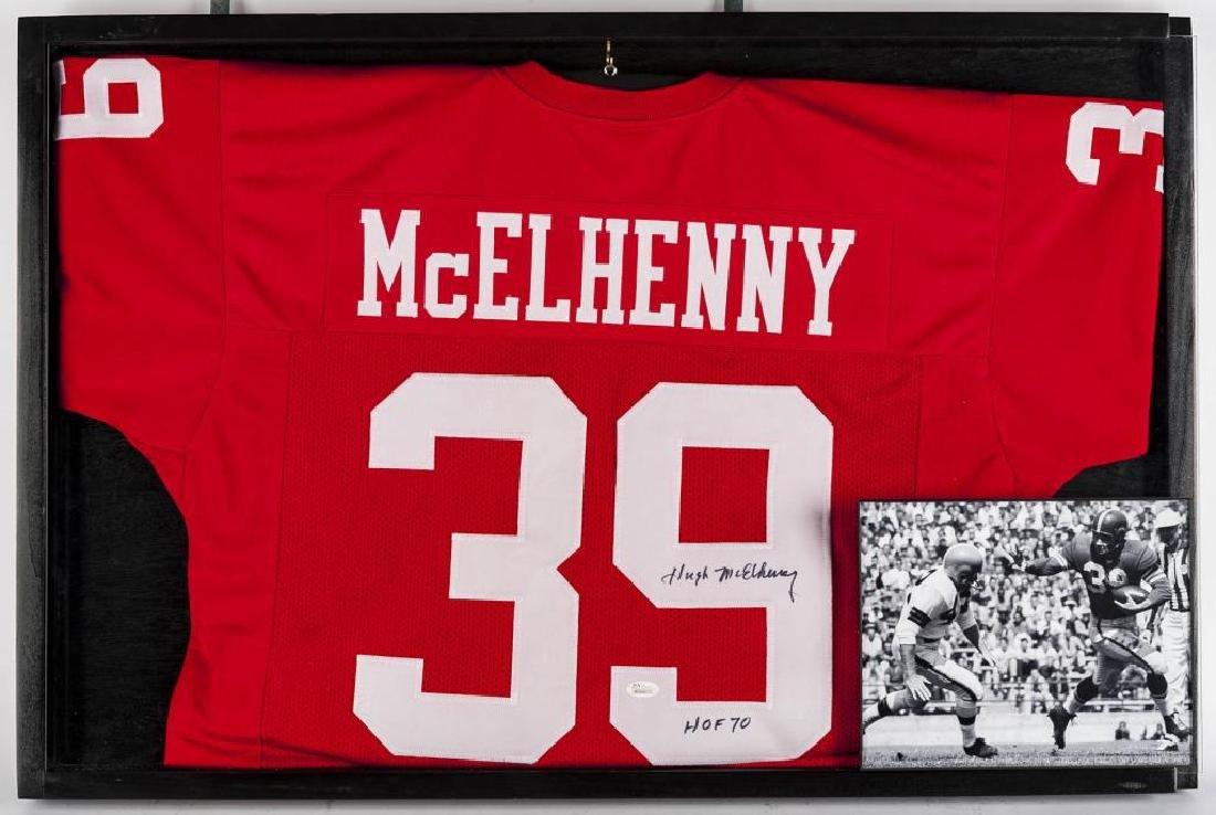 Autographed Hugh McElhenny Football jersey