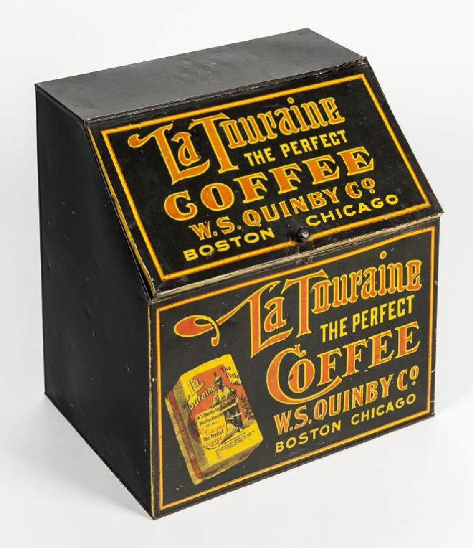 La Touraine Coffee Tin Litho Bin