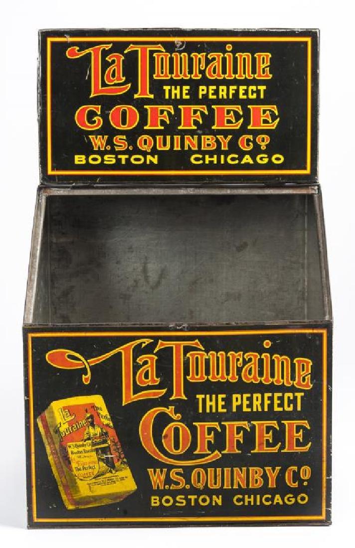 La Touraine Coffee Tin Litho Bin - 2