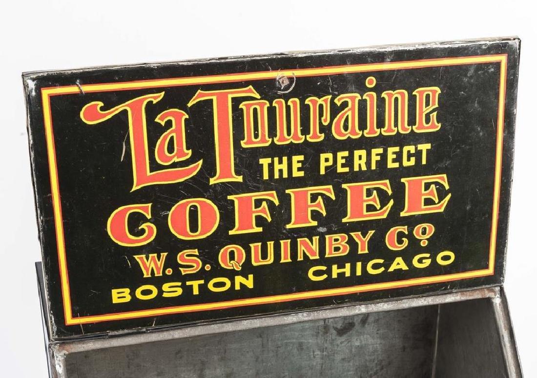La Touraine Coffee Tin Litho Bin - 4