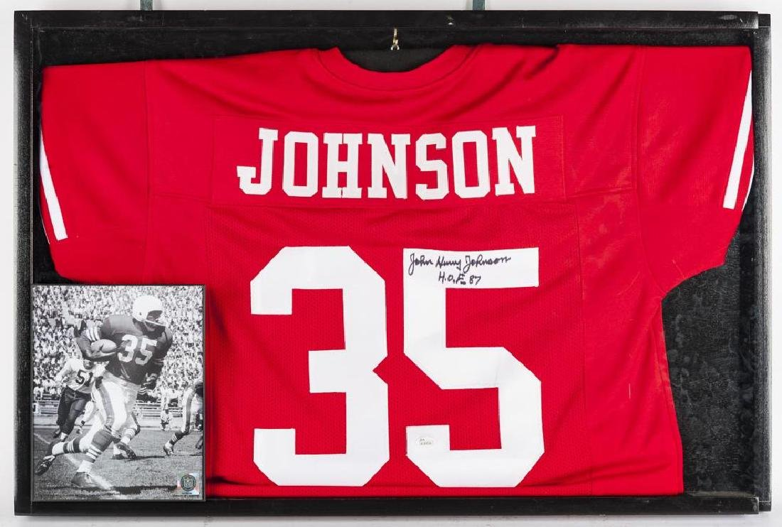 Autographed John Henry Johnson Football Jersey
