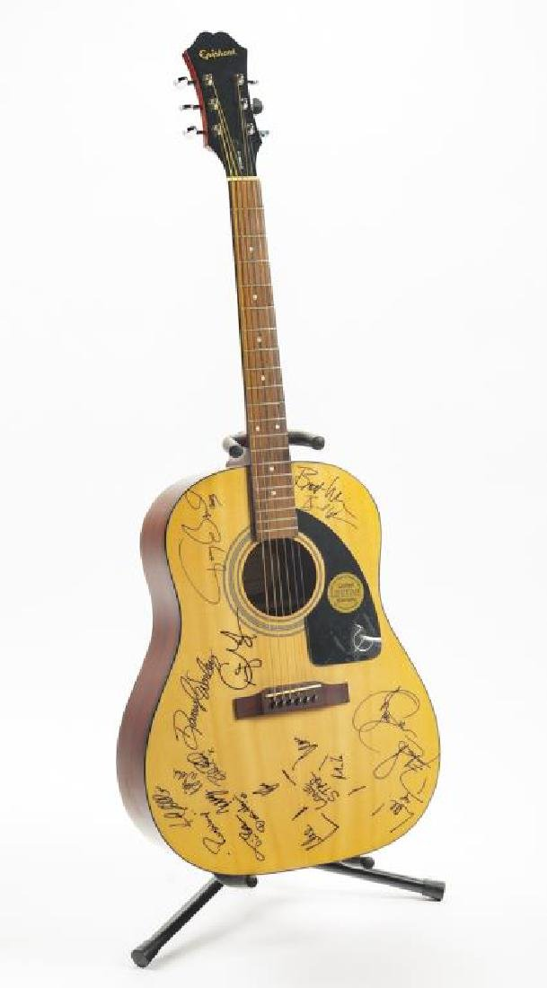 Autographed Epiphone Acoustic Guitar in OB