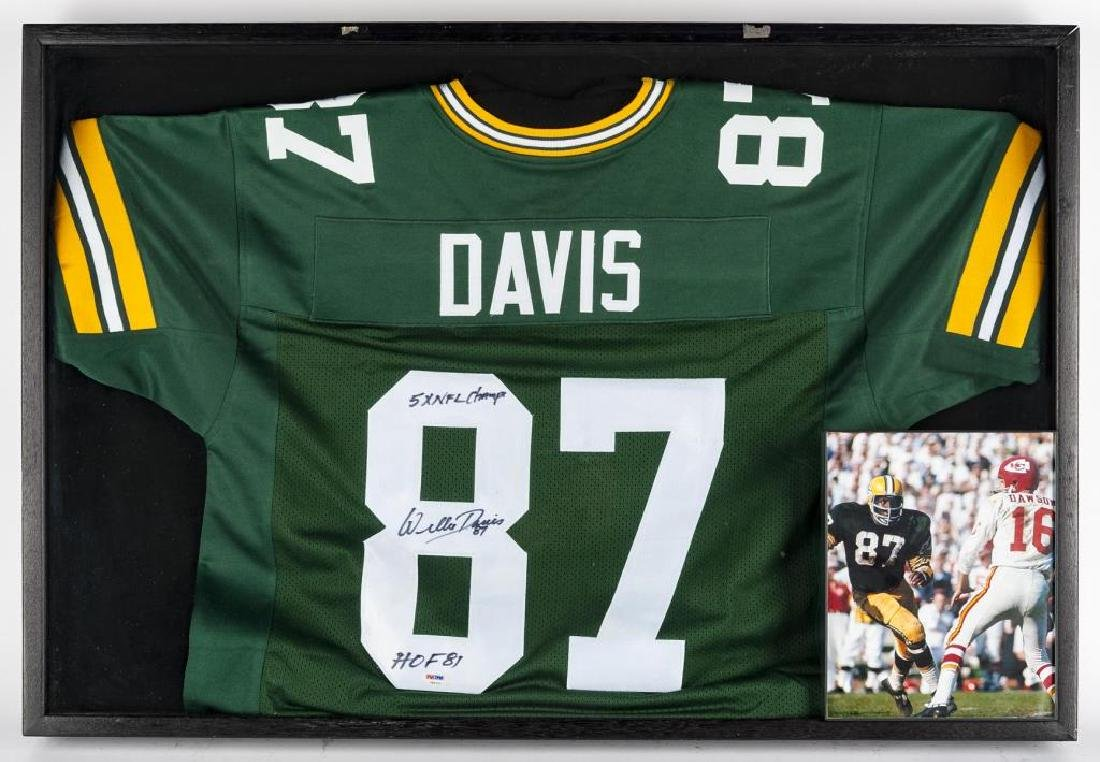 Autographed Willie Davis Football Jersey