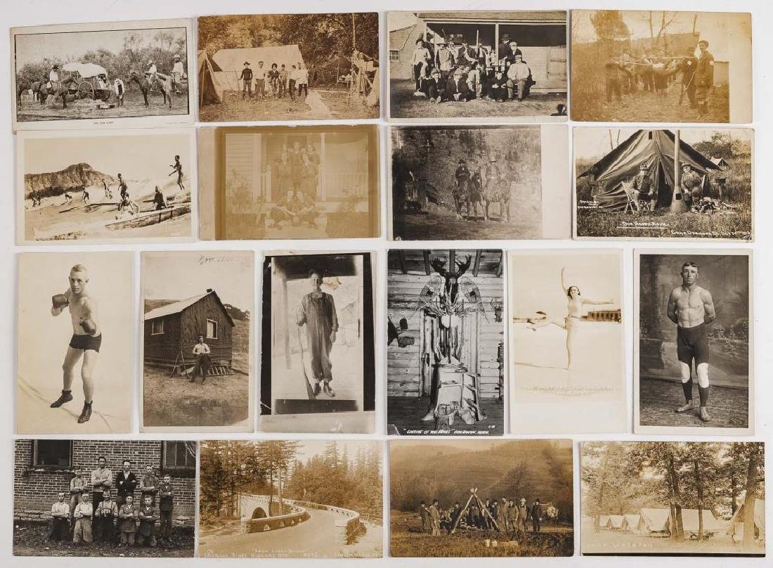 18 Vintage Postcards Incl Hunting & Sports