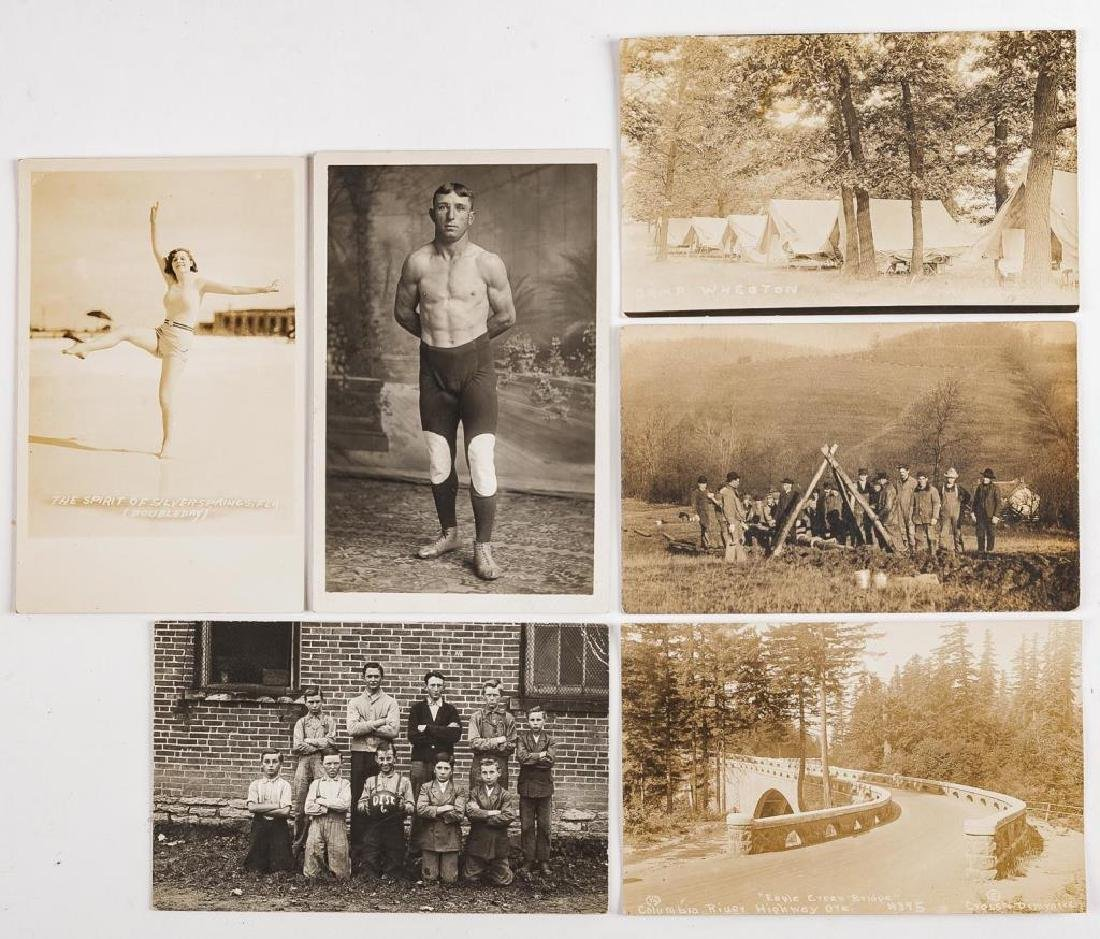 18 Vintage Postcards Incl Hunting & Sports - 4