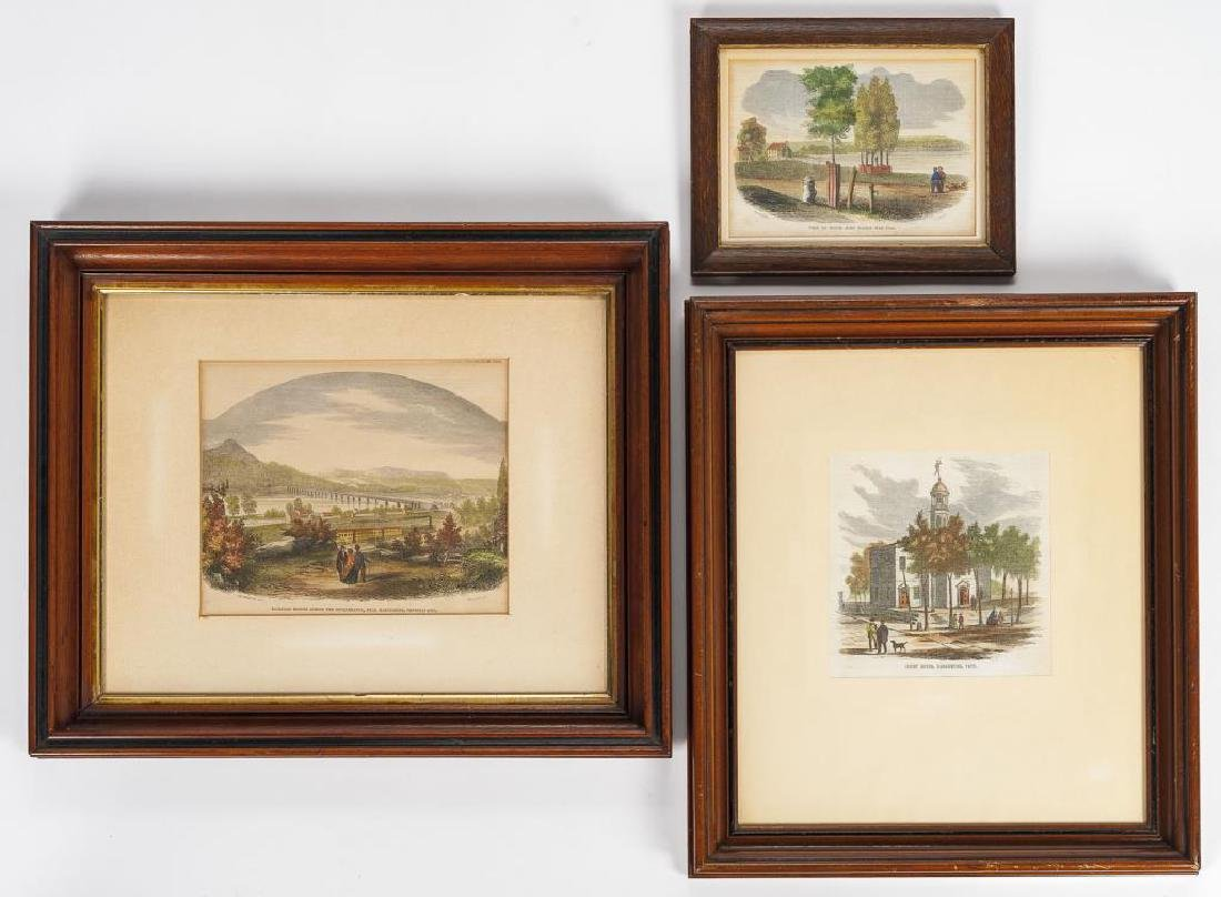 3 Harrisburg Area Prints Incl Devereux, 19th C.