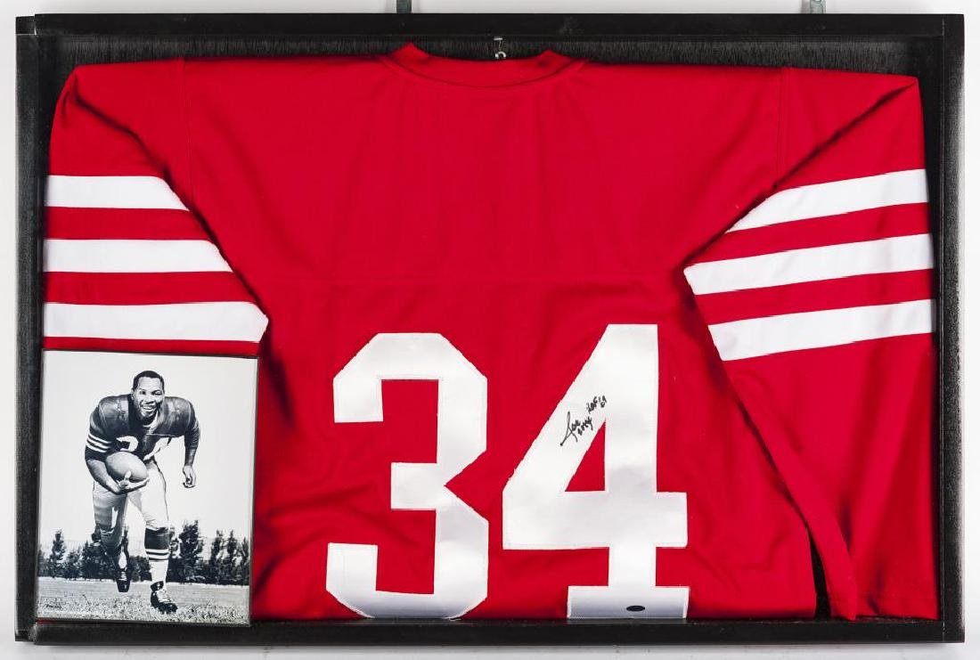"Autographed Joe ""The Jet"" Perry Football Jersey"