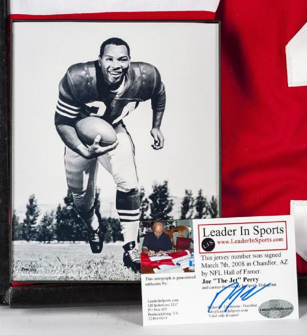 "Autographed Joe ""The Jet"" Perry Football Jersey - 2"