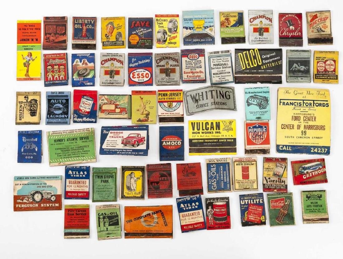 52 Matchbooks - Transportation & Service Stations