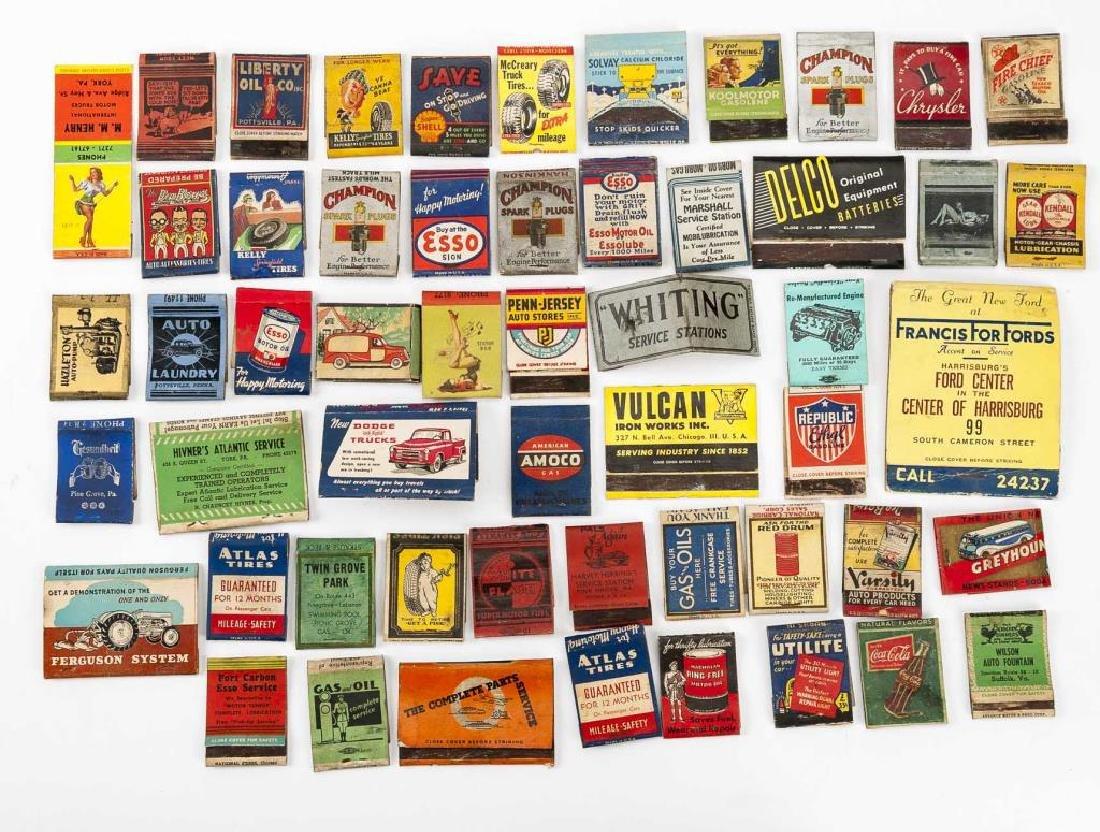 52 Matchbooks - Transportation & Service Stations