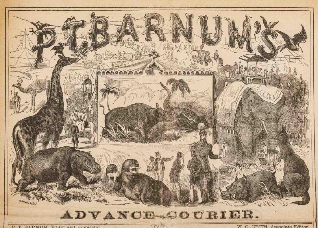 P.T. Barnum's Advance Courier Dated 1872