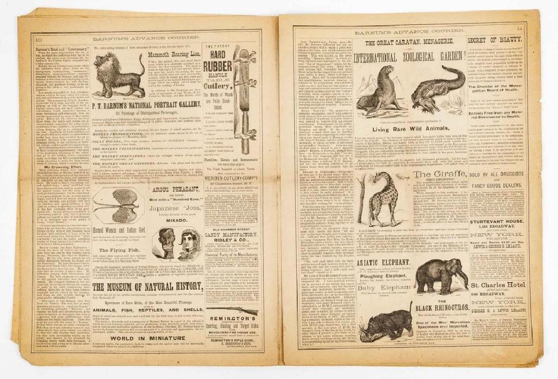 P.T. Barnum's Advance Courier Dated 1872 - 4