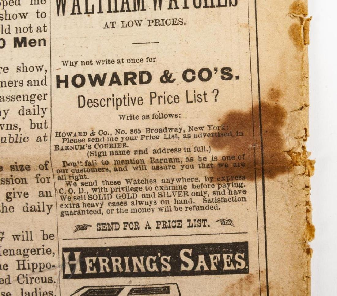 P.T. Barnum's Advance Courier Dated 1872 - 8