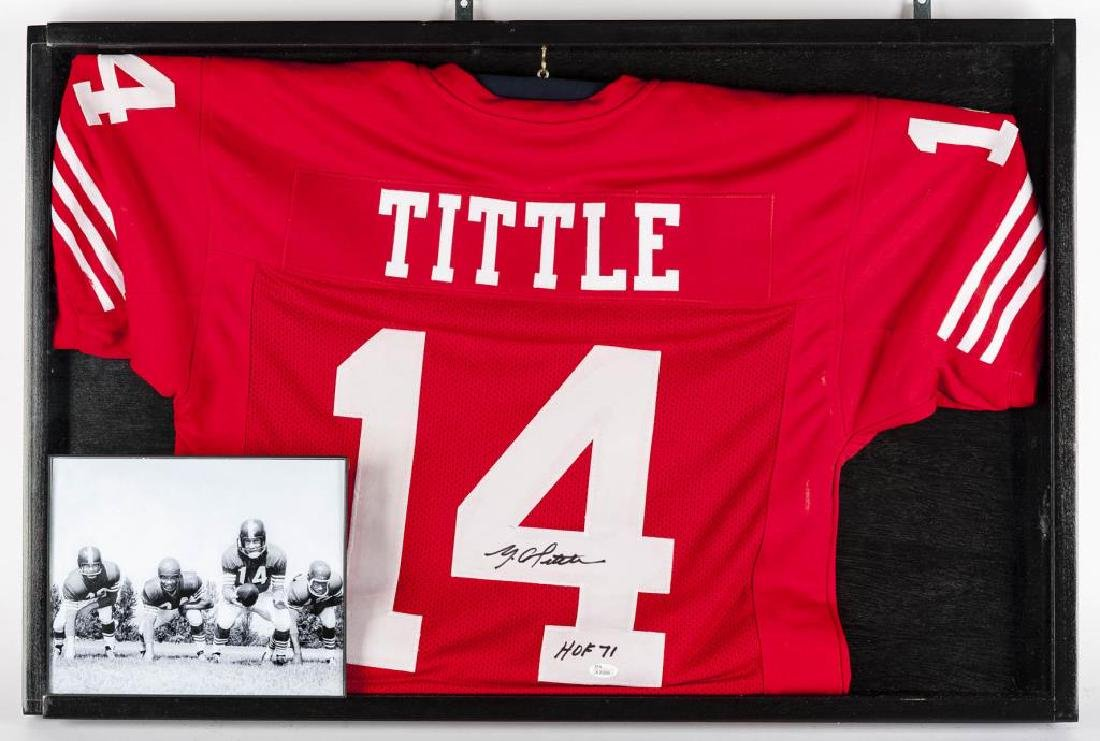 Autographed Y.A. Tittle Football Jersey