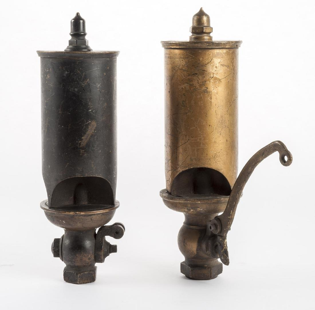 2 Brass Train Whistles, 19th C.