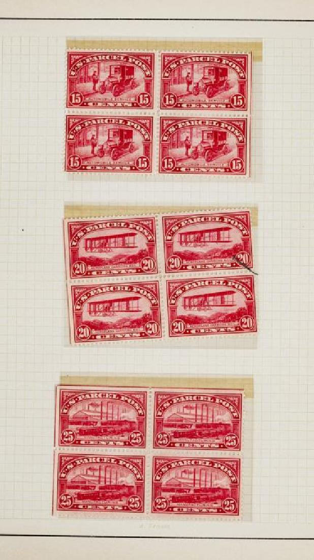 US Stamps Parcel Post Mint NH Blocks of 4