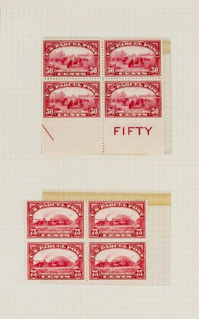 US Stamps Parcel Post Mint NH Blocks of 4 - 2