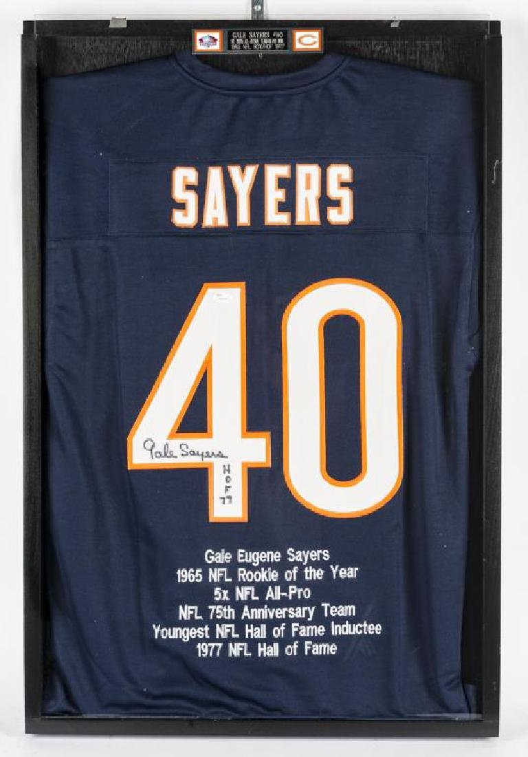 Autographed Gale Sayers Football Jersey