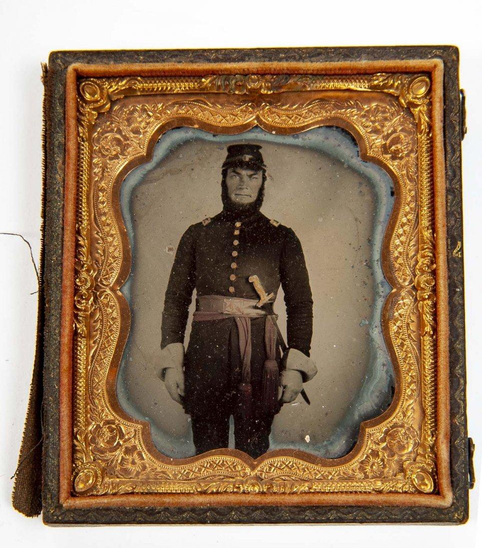 19th Century Civil War Officer Ambrotype