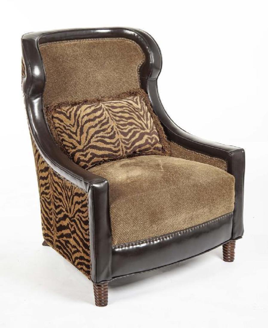 Tiger Print Lounge Chair