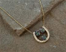 14K Mystic Topaz & Diamond Necklace