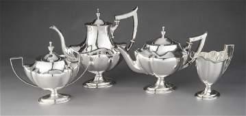 4 Pc Roger WIlliams Silver Co Coffee  Tea Set