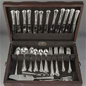78 Pcs Towle Chippendale Sterling Flatware